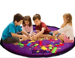 Acheter en ligne Stockage pour les jouets-150cm 85cm Enfants enfants jouets Sacs de buggy de stockage pour les blocs Bébé sac de bébé tapis de jeu tapis pour pique-nique nécessités extérieures fête de Noël