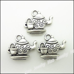 Wholesale Fashion Jewelry Charms Vintage Charms Tea set Pendant Antique silver Fit Bracelets Necklace DIY Metal Jewelry Making