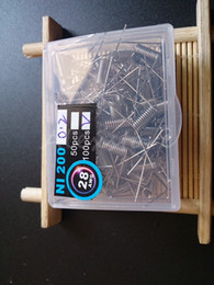 Wholesale NI200 Wire resistance Ni nickel prebuilt coils premade coil AWG g g g Gauge Ni for Temp Control TC Mod box