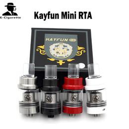 Wholesale Kayfun Mini RTA Rebuidable Tank Atomizer Glass Tube Acrylic Drip Tips Thread mm Airflow Control Holes Vs Kayfun V3 Indestructible RDA