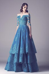 Wholesale 5pc A Line Colorful Wedding Dresses Lace Sheer Illusion Half Sleeves Beach Wedding Dressses