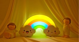 30pcs a bag Rainbow LED night light creative energy-voice mobile power battery installed nightlights DIY Wall Stickers