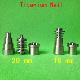 Wholesale titanium nail domeless-Direct inject design fits 16 mm glass joints and removes the need for a traditional Vapor Dome