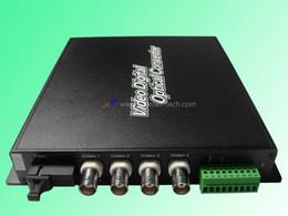 Wholesale-Fiber optic digital video converte transceiver multiplexer,(transmitter&receiver) 4 Channel video+1 channel PTZ(RS485)