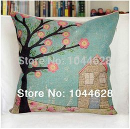 Wholesale 2pcs high quality linen lift tress cartoon cushion cover pillow case for sofa couch chair car home decor cm