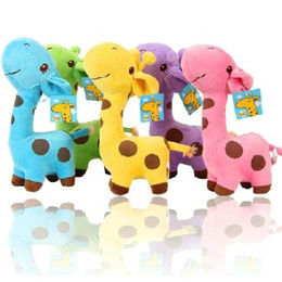 Wholesale Unisex Baby Kid Child Girls Cute Gift Plush Giraffe Soft Toy Animal Dear Doll Christmas Birthday Happy Gifts18 X cm JIA578