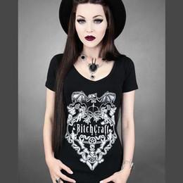 2017 imprimé floral t-shirts femmes 2015 harajuku style summer w1209 3D t-shirt femmes tops crâne floral / Bitchcraft lettre imprimée chemises punk occasionnels marque de nouveaux sommets tee imprimé floral t-shirts femmes ventes