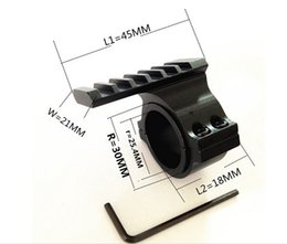 """30mm Ring W  25.4mm 1"""" Insertion Mount 20mm Rail For Barrel Scope Torch Tube"""