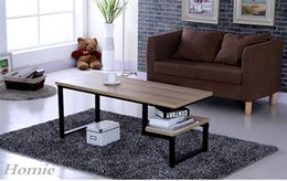 Wholesale Tea table Retro vintga Square Wrought iron Small side desk piece Europlean style Wooden Antique Fuiniture Design
