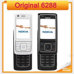 Original Nokia 6288 Unlocked Mobile Phone single sim single core GSM bar refurbihsed mobile phone