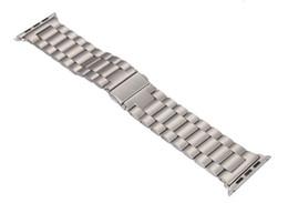 Bandas de acero inoxidable enlaces en Línea-Venda caliente de la pulsera del acoplamiento del acero inoxidable de las ventas + adaptador del conectador para la correa del metal de la venda los 38MM 42MM del reloj de Apple para el iWatch del iPhone DHL