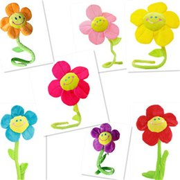 Wholesale Bendable Plush Sunflower Curtain Buckle Home Decors