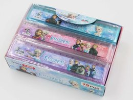 Wholesale Hot New Frozen Princess Cartoon ruler Frozen stationery ruler for students Frozen Elsa Sofia School Kids ruler