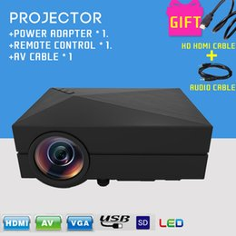 Wholesale Newest Mini Portable LM LED Projector Home Cinema Theater GM60 Projector For Video Games TV Movie SD Full HD Outdoor Theater