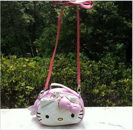 Wholesale 2016 New Baby Girls Cartoon KT Cat Bags Cute Girl Single Shoulder Mini Backpacks Baby Handbag Children Gift Child Purse