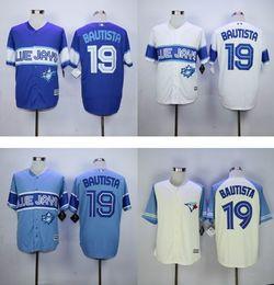 #19 jose bautista MLB Jersey Wholesale Cheap Toronto Blue Jays Baseball Jerseys Home Road White Red Blue Grey Jersey