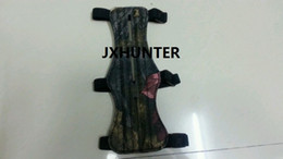 2PK camo 8.5 inches 3 Strap Leather Shooting Archery Arrow Arm Guard Protection Safe Guard Hunting