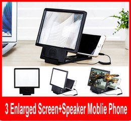 Angle-Adjustable Eyeshield 3D Enlarged Screen Mobile Phone Video Frequency Amplifier with Speaker englarged screen with retail box