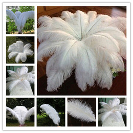 Wholesale!10 pcs a lot 20-22 inch White Ostrich Feather Plume for Wedding Centerpieces table decoration