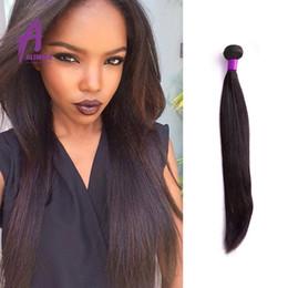 Indian Virgin Hair 1 Bundle Straight Human Hair Weave High Quality Natural Color Indian Hair Bundles Cheap 100% Virgin Hair
