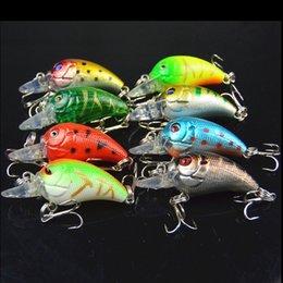 8pcs Haute Qualité Pêche leurre 4.5cm 4.2g petit poisson appâts artificiels vairon crankbait 6 # crochet yeux 3D de pêche à partir de pêche crankbait leurres petite fournisseurs