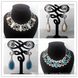 De la boda Joyería Nupcial Conjunto Collar Pendientes de la joyería conjunto Nuevo de la Moda