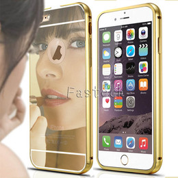 Mirror Case Glitter Aluminum Bumper For iPhone 6 6S 6 Plus 6S Plus Luxury Coque Rose Gold Metal Cover For Samsung note 5 galaxy S6 edge Plus