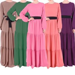 2015 Middle East Casual Dress Sunday dress Women Robes dress Muslim Dridesmaid Dresses Solid Color Dress jumpsuit dresses S763L