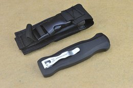 Wholesale New Bench made A10 Infidel Double C steel Plain Serrated Tactical knife knives with nylon sheath best gift L