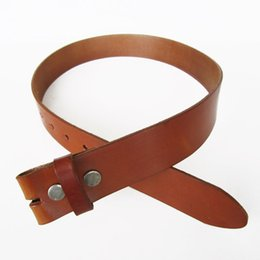 Wholesale Retail Men Leather Belt Snap On Classic Brown Color Real Leather Belt Gurtel BELT1-014ZW Free Shipping