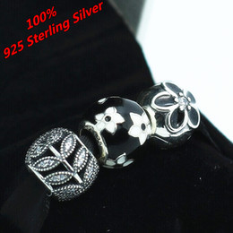 100% Authentic 925 Sterling Silver Charms and Bead Set Fits European Pandora Jewelry Charm Bracelets NO001