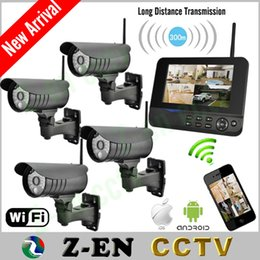 Wholesale DHL Free inch Monitor Home Guard Alarm System Home Surveillance Kits CH Wireless Security Cameras IP Remote Via Smart Phone Hot Sale
