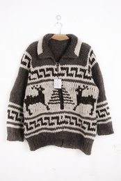 Wholesale Canada s foreign trade vintage vintage pattern characteristic of pure mohair wool snow deer sweater thick heavy hand