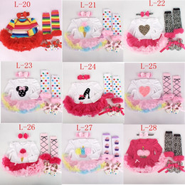 Newest Two Sister tutu Rompers dress 4 PCS set long sleeves for baby Girls NewTutu Dress tutu romper & ruffles legwarmer & headband & shoes