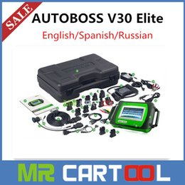 Wholesale 2016 Hot Sale Genuine SPX Autoboss Elite Super Scanner Support Multi brand Vehicles Autoboss V30 Elite with printer DHL