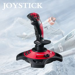 Wholesale-2015 Flying Rocker Flight Joystick For PC Game Controling Simulator New Arrival Joystick Free Shipping j0001