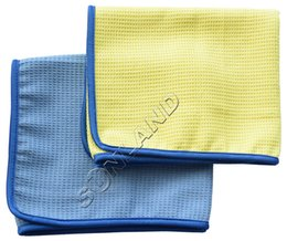 Wholesale Sunland cm X40 cm pack Microfiber Waffle Weave Car Cleaning washes cloths Detailing Drying Towels auto detail car care