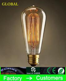 Fashion Incandescent Vintage Light Bulb Edison Bulb Fixture ST64 E27 Bulbs 220V 110v 40W Bulb Lights Antique Bulbs Edison Antique Lamps