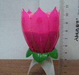 Compra Online Velas de cumpleaños barcos-La flor de loto hermosa de la venta caliente libre del envío 8 florece la luz romántica TY304 del regalo del partido del feliz cumpleaños