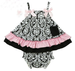 Summer Baby Set Girls Flower Ruffles Tank Tops + PP Shorts 2pcs Outfits Kids Toddler Baby Sets Cotton Sport Infant Clothing 10599