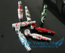 Wholesale FBH052327 Creative fashion mini beer bottles metal portable pipe smoking pipe fittings