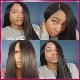 Golden supplier long black straight hair wig indian human hair dreadlock wigs