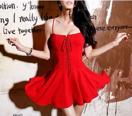 Wholesale Fashion bandage women hot sexy bra Dresses vintage backless spaghetti strap summer vestidos beach sundress female