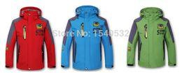 Wholesale-Retail 2015 new autumn and winter children's jackets boys plus cotton velvet big virgin outdoor windbreaker jacket