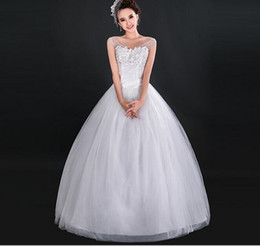 New white fashionable ball gown Bateau neck beaded wedding dress 2015 gowns