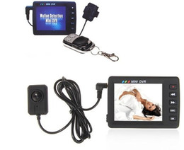 Wholesale 2 inch LCD Angel Eye Portable Mini Video Recording System Button DVR Video Recorder Camera