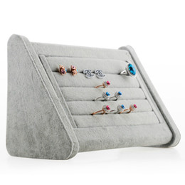 High Quality Velvet Rings Earring Stud Jewelry Display Stand Ring Holder Storage Rack Jewelry Packaging & Display