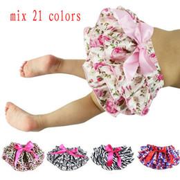 Wholesale Mix colors Baby Bloomers Girls Pettiskirt TUTU underwear Panties Toddle Kids Underpants infant newborn ruffled satin PP pants Kids Cloth
