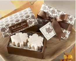 Wholesale Wedding Favors fancy soap wedding gift maple leaf style in box fast shipping