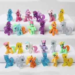 Wholesale 4 cm Little Toys Animal Pets Rainbow Horse Girls Collection Toys Gift For Baby